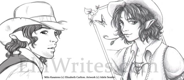 Milo Kasateno (illustrated by fantasy artist Adele Sessler)