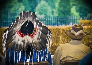 Chief and my father at an event we put on in 2012. One of my favorite photos of my dad. It embodies him well.