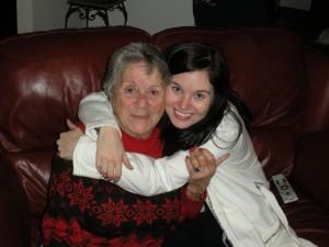 My grandmother and I, Christmas 2011.