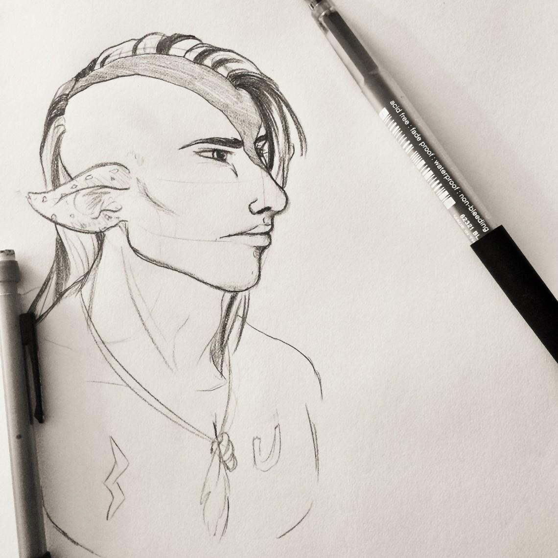 Tobiano Sketch Full
